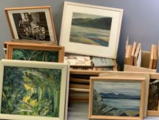 WATERCOLOURS - large parcel of well executed watercolour and other paintings by the late Mrs