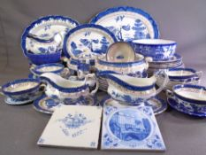REAL WILLOW and other blue and white ware