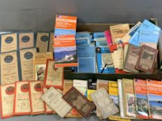 ORDNANCE SURVEY 2.5 ins MAPS, very large assortment of North Wales and a large quantity of vintage