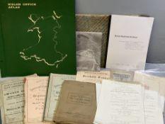 EPHEMERA - Welsh Office Atlas circa 1977, portfolio of Welsh Ordnance Survey maps, portfolio of