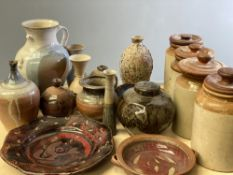 STUDIO POTTERY - fabulous assortment including contemporary art and provision containers (approx