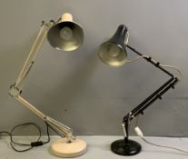 HERBERT TERRY & SONS LTD VINTAGE ANGLEPOISE LAMP and another similar lamp