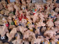'PIGGIN' by David Corbridge, very large assortment of figures, clock ETC, approximately eighty