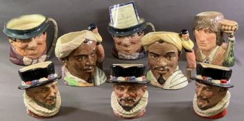 ROYAL DOULTON CHARACTER JUGS (8) - 'Beefeater' D6206 (2), 'Beefeaters' RD no. 5193, Shakespearian