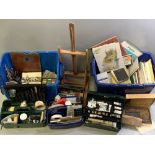 ARTIST'S MATERIALS including oils, pads, small tabletop easel ETC