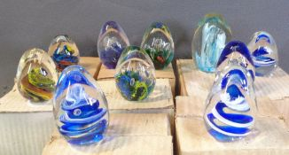 PAPERWEIGHTS - a large decorative assortment
