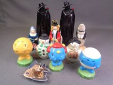 WADE - an assortment of pieces including three Mr Men, Sandeman Port decanter, Snowmen and others