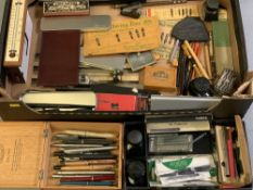 PARKER PENS and others, twenty plus including vintage propelling pencil and other desk and office