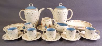 SUSIE COOPER VINTAGE COFFEEWARE and four items of Royal Doulton Bunnykins