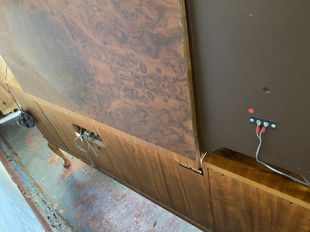 DYNATRON RADIOGRAM with a pair of floor standing speakers, in a walnut effect cabinet, 75cms H, - Image 4 of 5