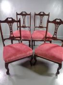 PARLOUR CHAIRS, a set of four