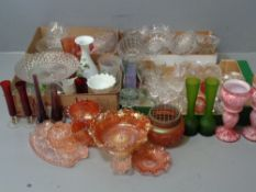 CARNIVAL GLASSWARE and a large assortment of other good, cut, milk, cranberry and decorative