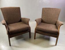 PARKER KNOLL VINTAGE ELBOW CHAIRS, a pair, 80cms H, 66cms W, 70cms D