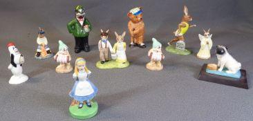 ROYAL DOULTON BUNNYKINS - 'Jack & Jill', 'Fisherman' and 'Angel', Wade 'Alice in Wonderland' and '