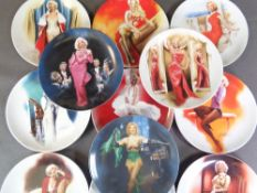 COLLECTOR'S 'MARILYN MONROE' PLATES, limited editions by Bradex (twelve), 21.5cms diameter