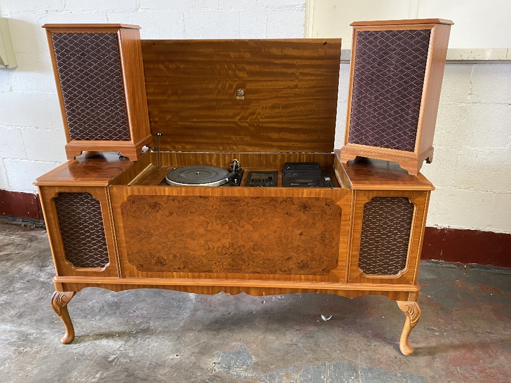 DYNATRON RADIOGRAM with a pair of floor standing speakers, in a walnut effect cabinet, 75cms H, - Image 2 of 5