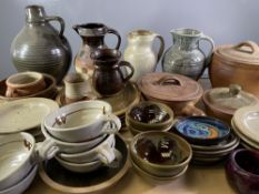 POTTERY - Studio Art and tableware, a large assortment