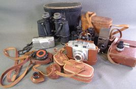 CAMERAS & VINTAGE FIELD GLASSES including cased Agfa Supersilette and associated items