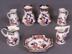 MASONS BLUE MANDALAY, an assortment (seven pieces) including pair of jugs and a pair of vases, 11.