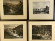 COLOURED PRINTS - set of three, late 18th/early 19th Century by ALKEN - 1. 'Pulpit of Hugh Llwyd