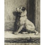 HERBERT DICKSEE R.E. (1862-1942) an original artist proof etching on vellum - The Prodigal, from and