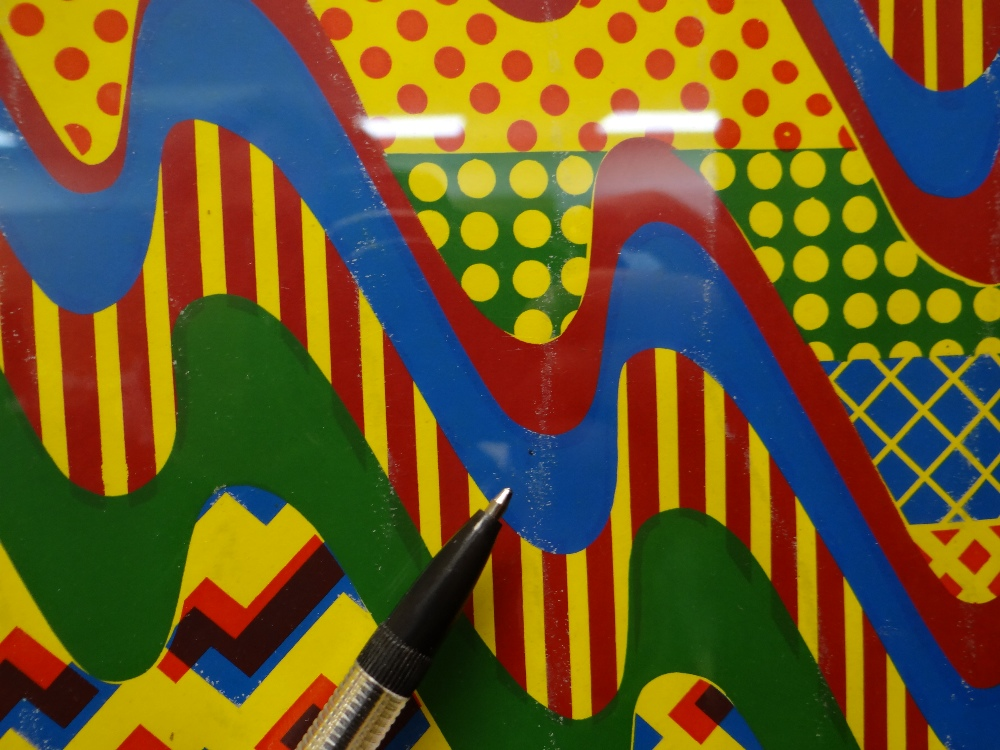 SIR EDUARDO PAOLOZZI screenprint - abstract, in yellow, green, red and blue, signed and dated in - Image 7 of 9