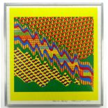 SIR EDUARDO PAOLOZZI screenprint - abstract, in yellow, green, red and blue, signed and dated in