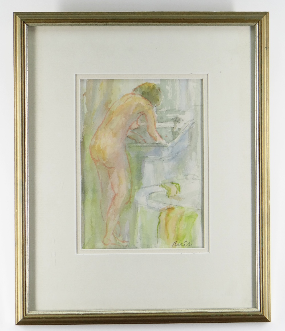 ANDRE BICAT (1909-1996) two watercolours - (1) titled on Attic Gallery Swansea label 'Morning - Image 2 of 3