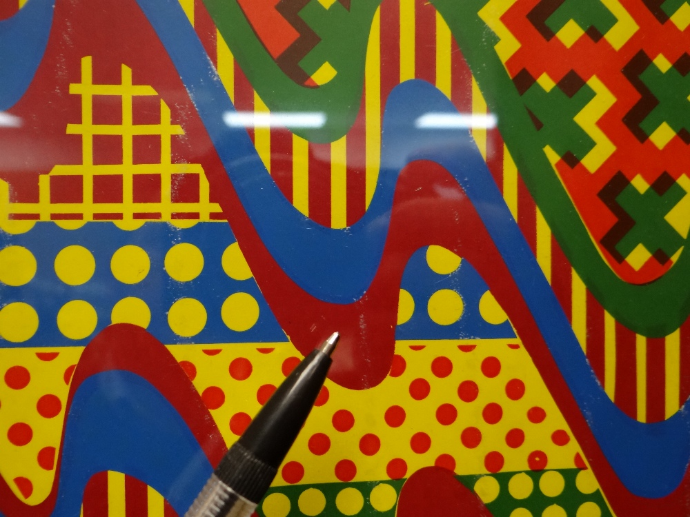 SIR EDUARDO PAOLOZZI screenprint - abstract, in yellow, green, red and blue, signed and dated in - Image 8 of 9