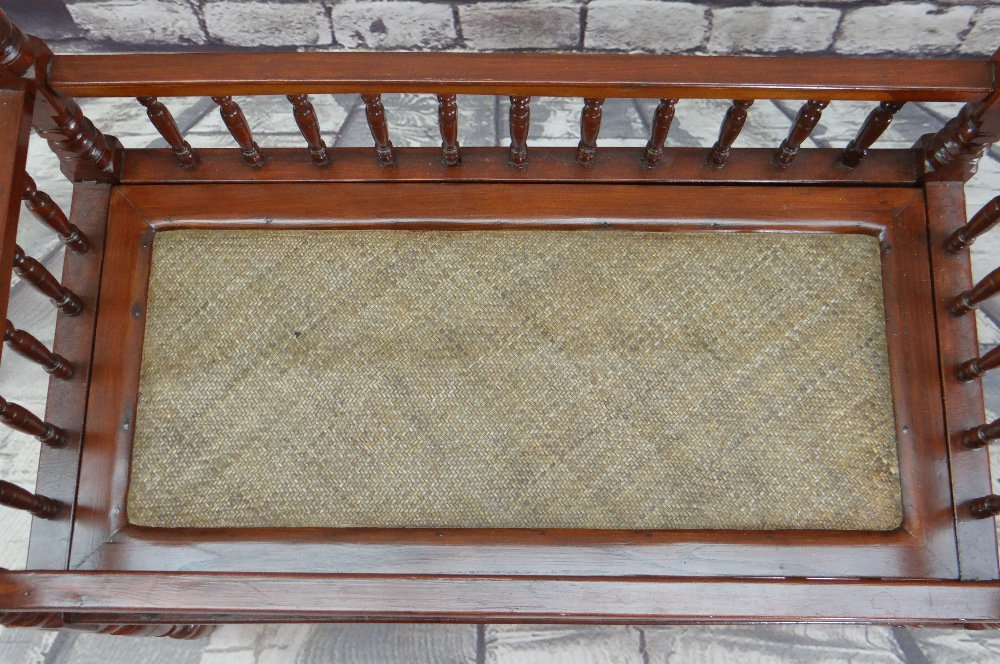 CHINESE SOFTWOOD COT or CRIB, with rattan woven base, 92 x 60cms - Image 3 of 3