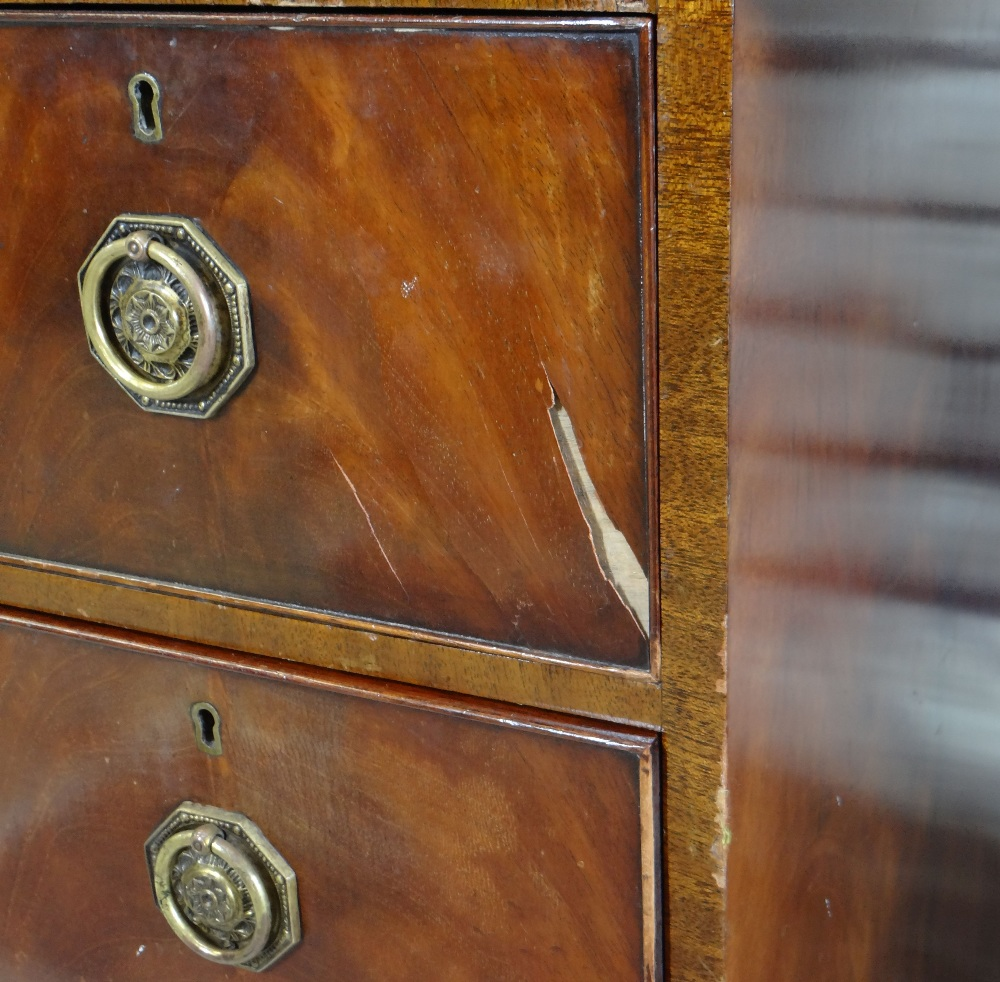 19TH CENTURY MAHOGANY STANDING CORNER CABINET with angled cornice and astragal glazed doors, blue - Image 4 of 7