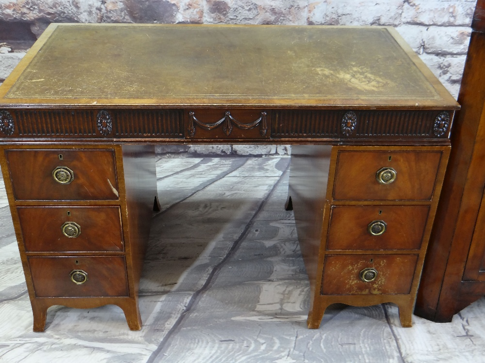 19TH CENTURY MAHOGANY STANDING CORNER CABINET with angled cornice and astragal glazed doors, blue - Image 2 of 7