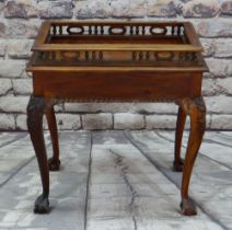 MODERN SOUTH EAST ASIAN HARDWOOD TABLE, modelled after an early Georgian silver table with removable