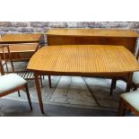 VINTAGE VANSON TEAK DINING SUITE, comprising extending dining table and four chairs, sideboard,