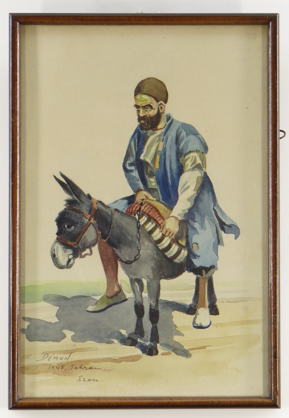 DEMON STUDIO (IRAN) watercolours - four depicting artisans including carpet seller, all signed and - Image 2 of 5