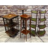 ASSORTED & OCCASIONAL FURNITURE including revolving bookcase, fern stand, torchere and pair of
