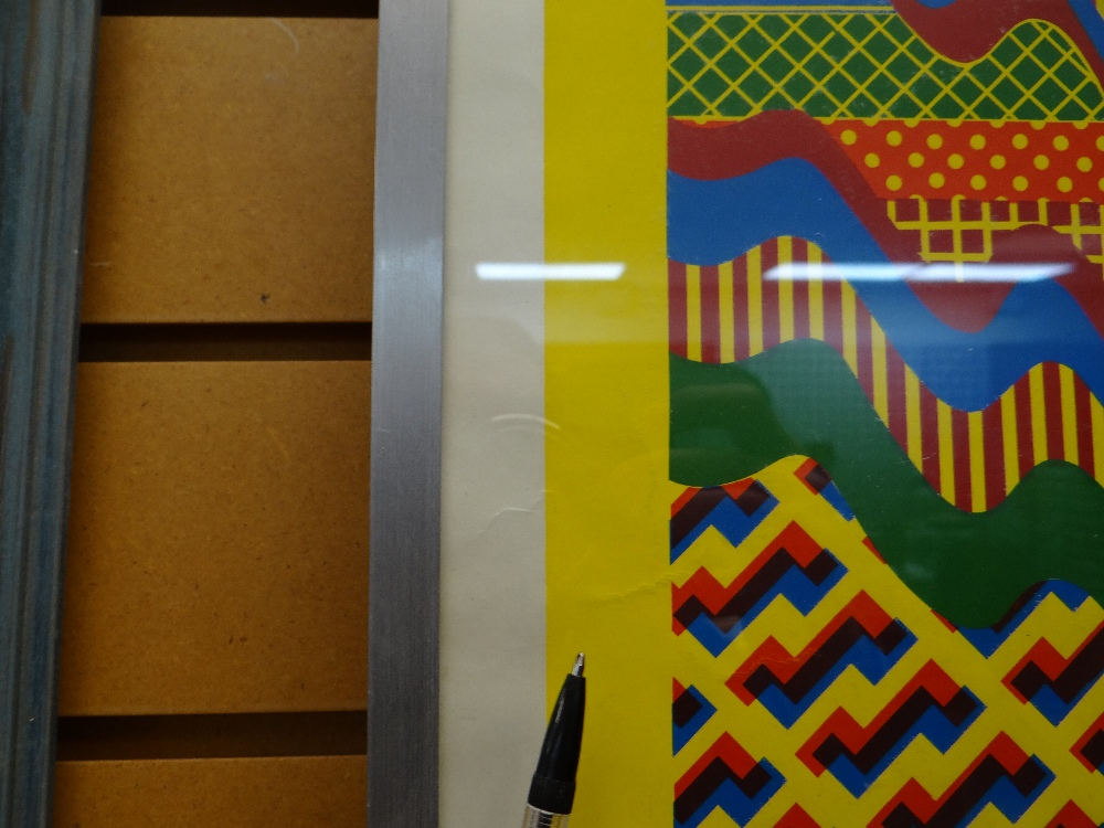 SIR EDUARDO PAOLOZZI screenprint - abstract, in yellow, green, red and blue, signed and dated in - Image 3 of 9