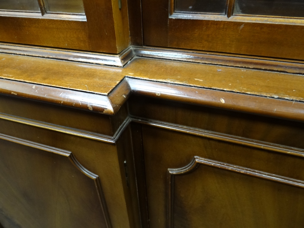 MODERN REPRODUCTION GEORGIAN-STYLE BREAKFRONT BOOKCASE, 196 x 36 x 201cms Condition: generally - Image 10 of 12