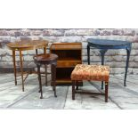 ASSORTED OCCASIONAL FURNITURE including Edwardian oval mahogany and satinwood crossbanded table with