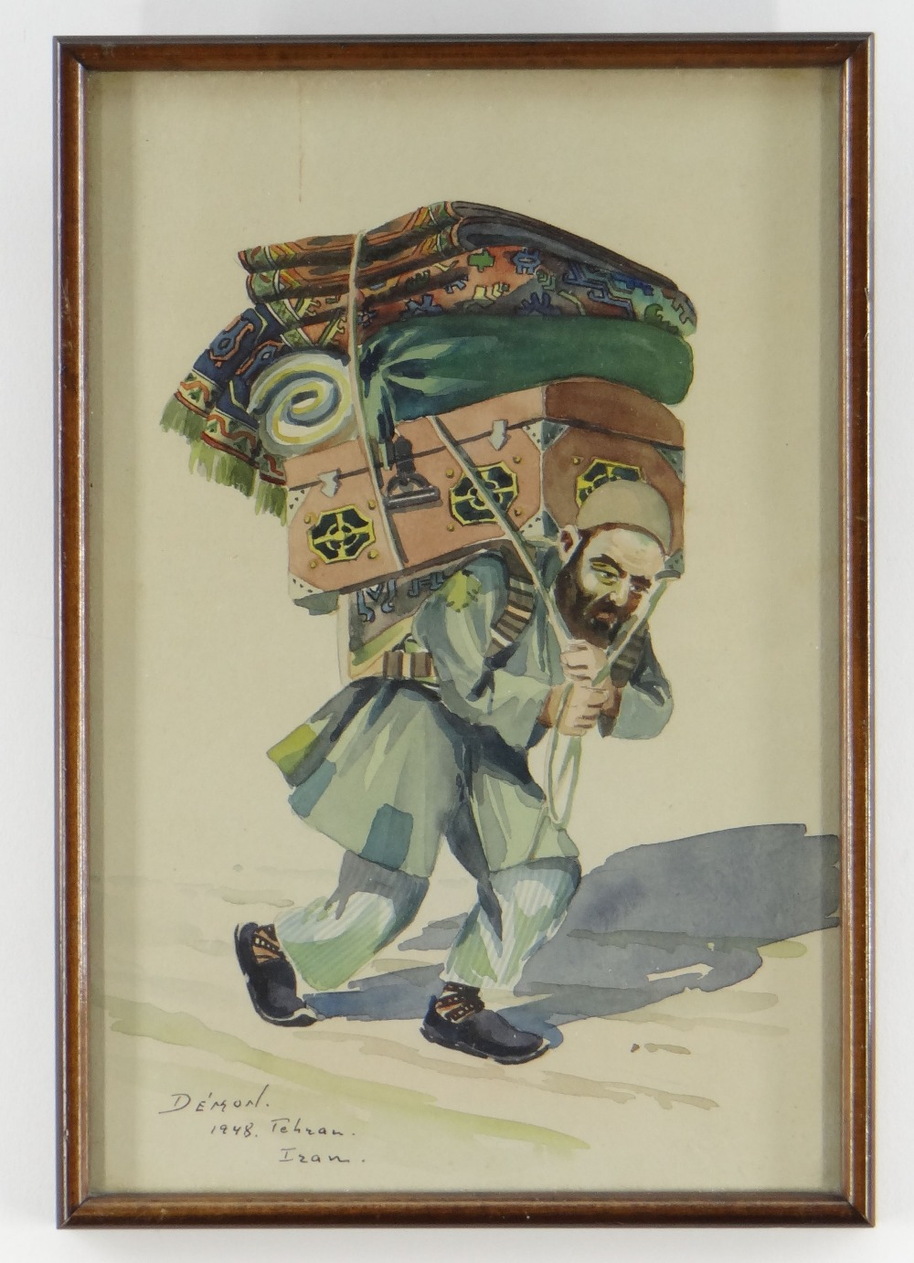 DEMON STUDIO (IRAN) watercolours - four depicting artisans including carpet seller, all signed and - Image 5 of 5