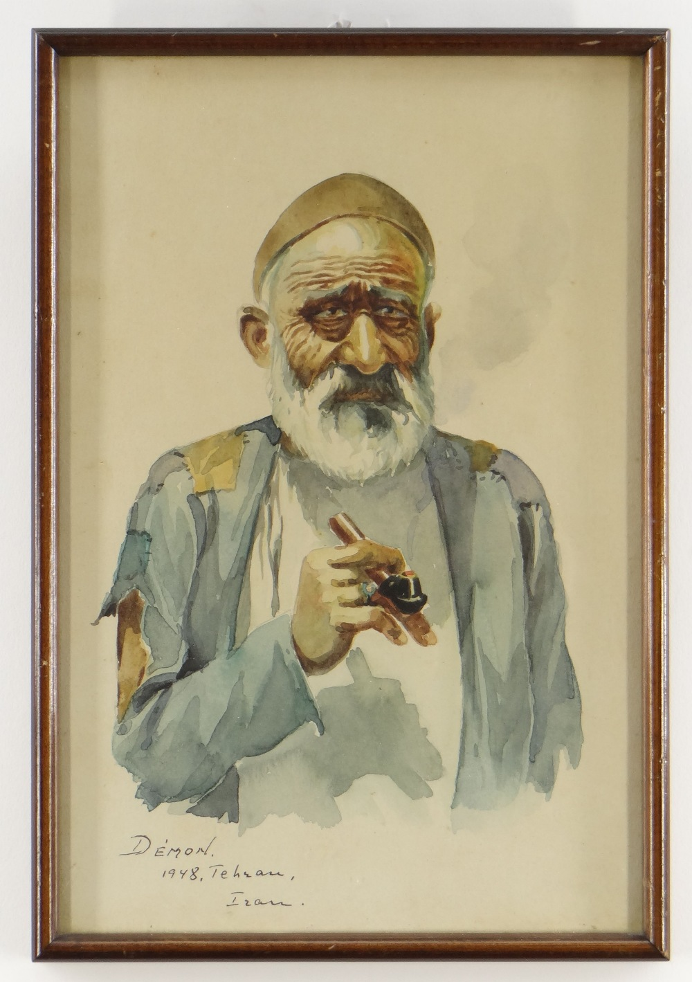 DEMON STUDIO (IRAN) watercolours - four depicting artisans including carpet seller, all signed and - Image 3 of 5