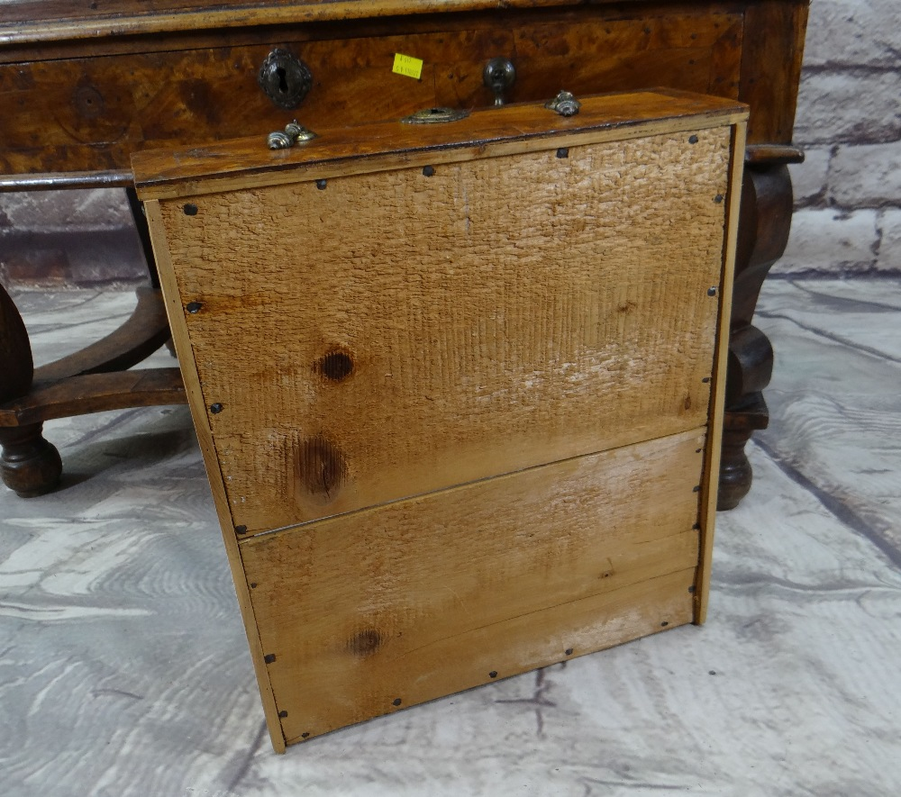 QUEEN ANNE WALNUT & BURR WALNUT CROSSBANDED CHEST ON STAND, veneered top and cornice above two short - Image 4 of 44