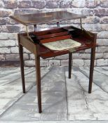 EDWARDIAN MAHOGANY PATENT MARQUETRY METAMORPHIC WRITING DESK, by Edwards & Sons, the closed desk