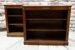 PAIR MODERN REGENCY-STYLE GILT METAL MOUNTED BOOKCASES, 107 x 34 x 92.5cms (2) Condition: