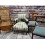 ASSORTED ANTIQUE CHAIRS, including Regency mahogany side chair, Victorian walnut chair, Victorian
