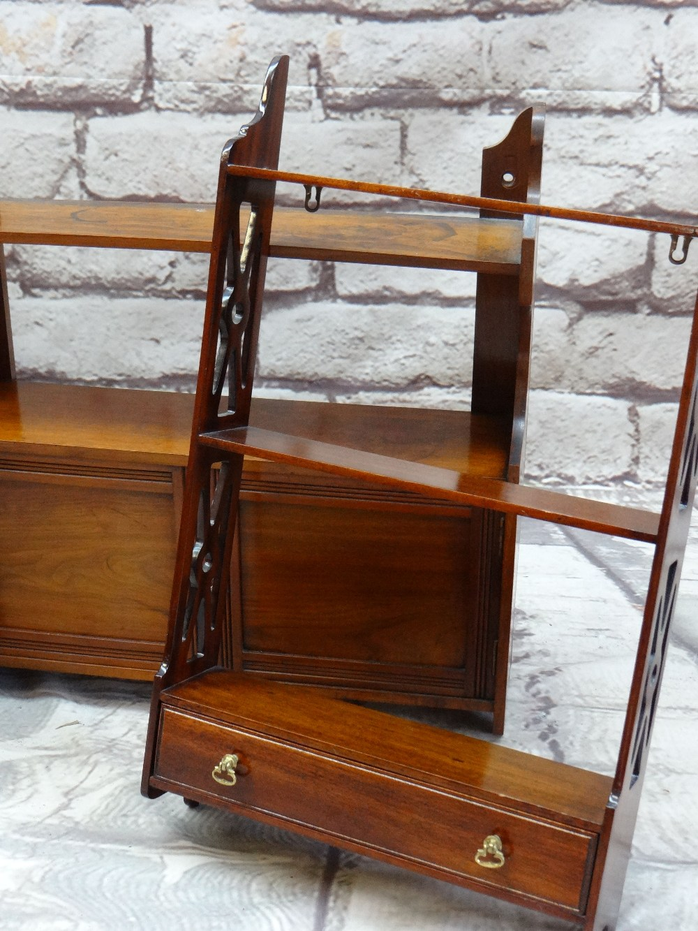 ASSORTED OCCASIONAL FURNITURE, including a Chinese black lacquer table casket, two small hanging - Image 3 of 3