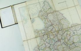 BBC BARGAIN HUNT LOT: STANFORD (EDWARD PUB.) Map of England & Wales, folding engraved map sectionili