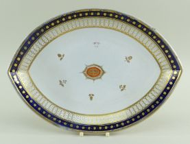 SWANSEA PEARLWARE COMPORT STAND FROM THE 'NELSON SERVICE' BY THOMAS PARDOE circa 1802, marquise