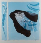 MARTYN JONES mixed media with oils on paper - abstract entitled 'Slotermeer, Amsterdam', signed