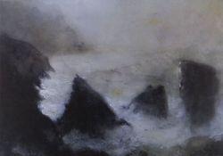 WILLIAM SELWYN limited edition (38/300) print - waves crashing onto rocky coastline, entitled